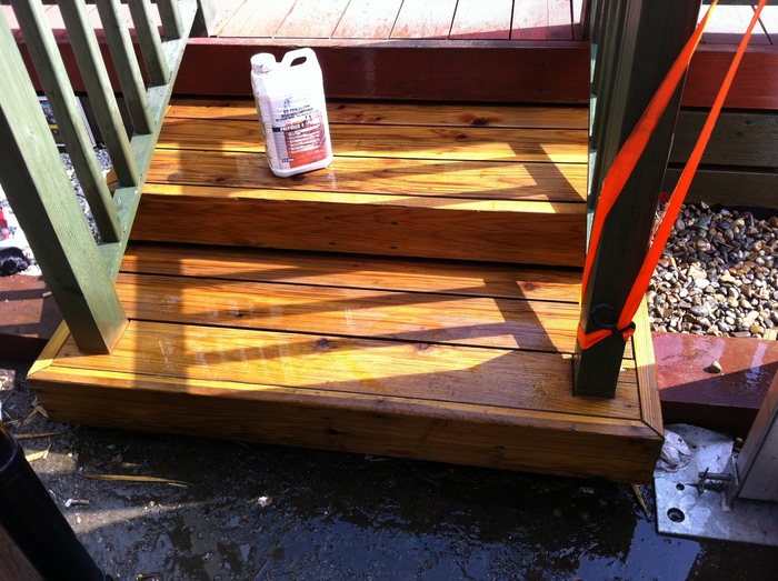 Prepdeck removes decking oil
