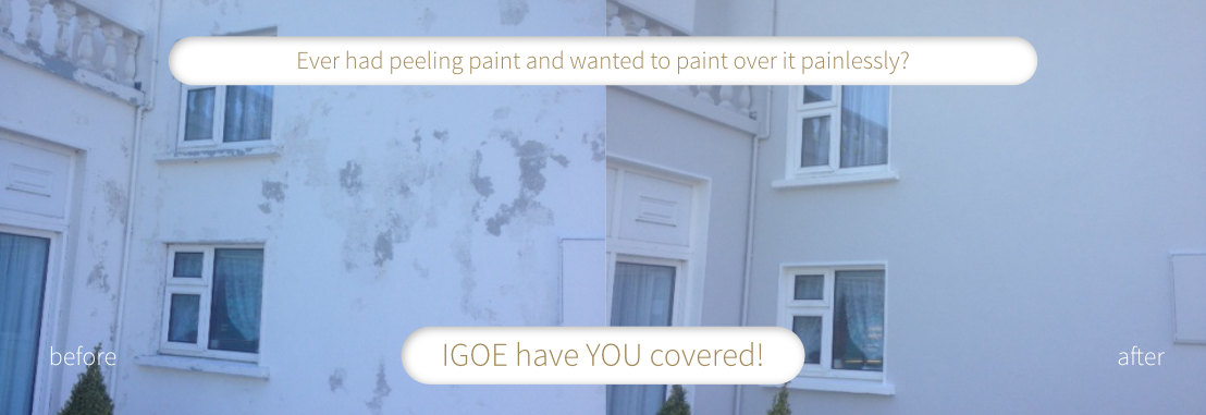 Ever had peeling paint and wanted to paint over it painlessly?    IGOE have YOU covered!