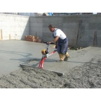 Concrete Leveller Spreads And Levels In One Operation.